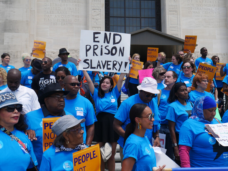 Rally on the steps of the State Capitol for Louisianans for Prison Alternatives Coalition Lobby Day, 2019.