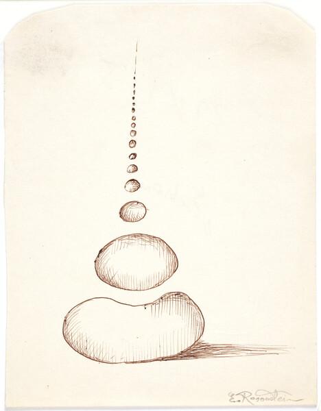 _ ER_Echos, ink on paper, 16 x 20 cm, undated