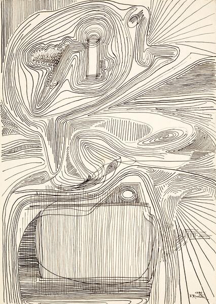 _ ER_Fire, ink on paper, 29,2 x 22,8 cm, 1980