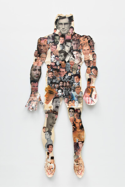 Frederick Weston 'Tommie's Smile' 1979, Mixed media on dot matrix print, 14 x 8.5 in, Unique, Courtesy Gordon Robichaux, NY, Collection Armyan and Christine Meleo Bernstein, Photo Adam Kremer (1)