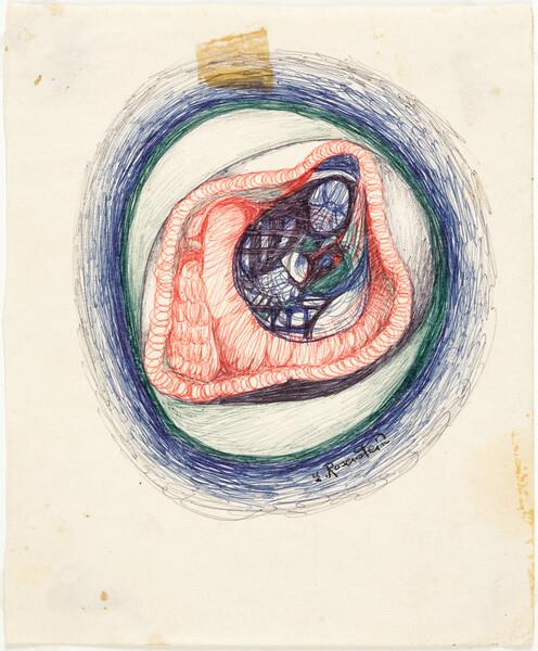 _ ER_Cradle, pen on paper, 16,4 x 13,4 cm, undated