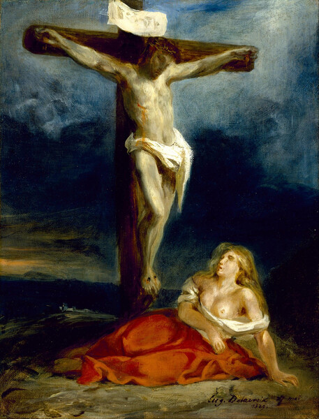 Eugène_Delacroix_-_Saint_Mary_Magdalene_at_the_Foot_of_the_Cross_-_Google_Art_Project