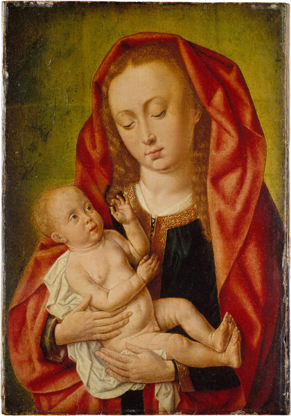 Follower of Hans Memling, Virgin and Child, 16th century.
